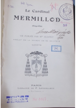 Le Cardinal Mermillod 1824-1892
