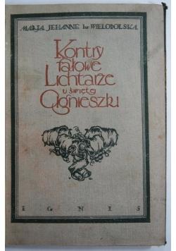 Kontryfałowe lichtarze u św. Agnieszki. 1922 r.