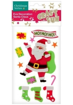 Ozdoba dekoracyjna samoprzylepny Mikołaj
