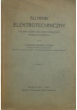 Słownik elektortechniczny, 1929 r.