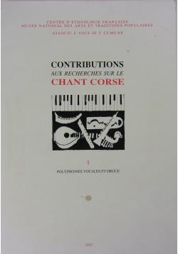 Contributions Aux Recherches Sur Le Chant Corse