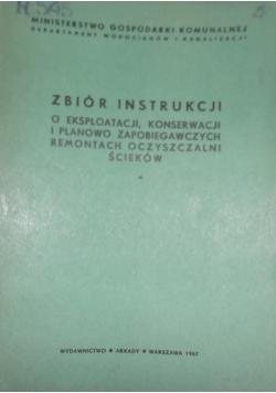 Zbiór instrukcji o eksploatacji, konserwacji i planowo zapobiegawczych remontach oczyszczalni ścieków