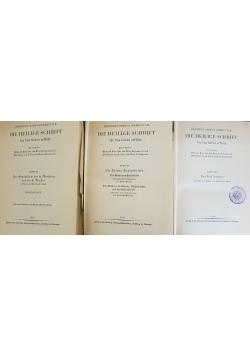 Die Heilige Schrift tomy IX,XI,XV