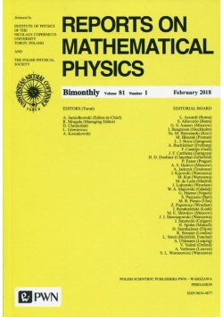 Reports on Mathematical Physics 81/1 2018 Kraj