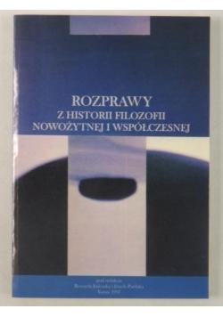 Rozprawy z historii filozofii nowożytnej i współczesnej