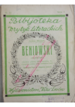 Beniowski, 1928 r.