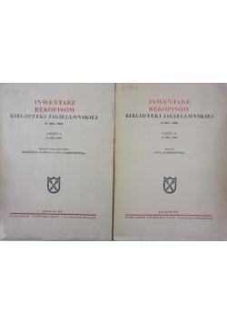 Inwentarz rękopisów Biblioteki Jagiellońskiej Nr 6001 - 7000 Część I - II