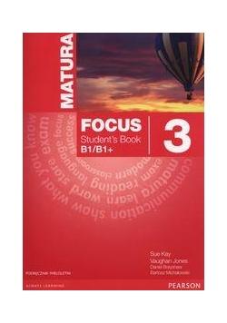 Matura Focus 3 PL SB B1/B1+ wieloletnie PEARSON