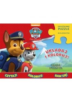 Psi Patrol. Układaj i koloruj (książka + puzzle)