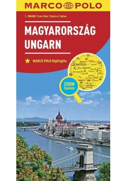 Mapa ZOOM System. Węgry 1:300 000 MARCO POLO