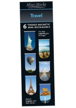 Zakładki magnetyczne Travel 6 sztuk