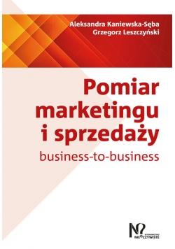 Pomiar marketingu i sprzedaży business-to-business