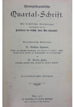 Theologisch praktische Quartalschrift 54 band, 1901r.