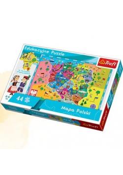 Puzzle Edukacyjne Mapa Polski dla dzieci TREFL
