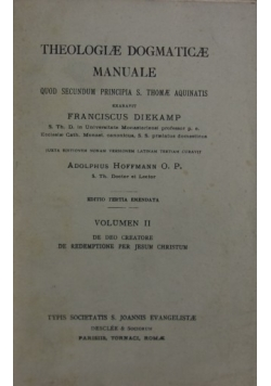 Thelogie dogmatice manuale 1935r.