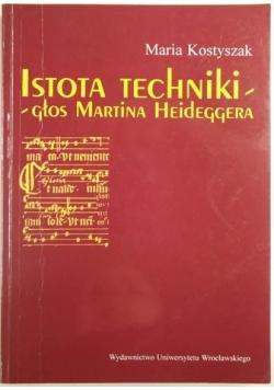 Istota techniki - głos Martina Heideggera