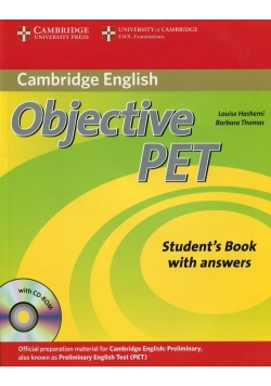 Objective PET Student's Book with answer + CD