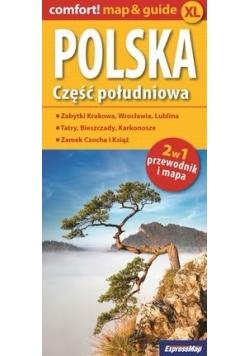 Polska Część południowa 2w1 przewodnik i mapa