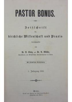 Pastor bonus. 1891r.