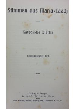 Stimmen aus Maria-Laach: katholische Blätter, 1912 r.