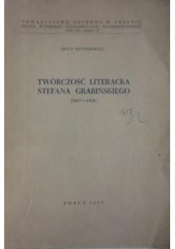 Twórczość Literacka Stefana Grabińskiego