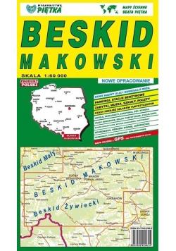 Beskid Makowski 1:60 000 mapa turystyczna