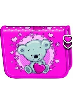 Piórnik dwuklapkowy bez wyposażenia Teddy Bear