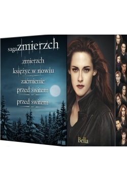 Saga zmierzch, Zmierzch/ księżyc w nowiu/ Zaćmienie/ Przed świtem cz I i II, płyty dvd