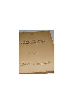 Pomiary i przyrządy pomiarowe radiotechniki, 1950 r.