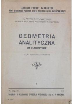 Geometria analityczna, 1947 r.