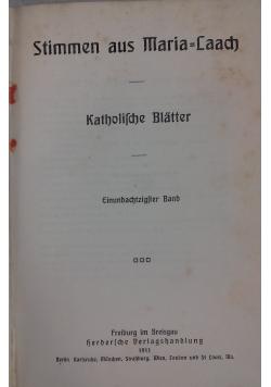 Stimmen aus Maria-Laach, 1911 r.