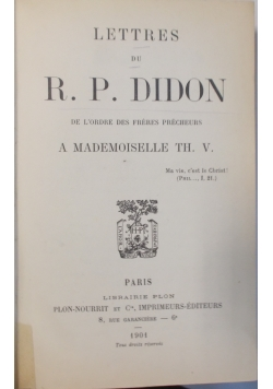 A Mademoiselle TH. V., 1901r.