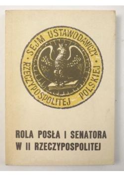 Rola posła i senatora w II Rzeczypospolitej