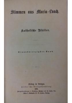 Stimmen aus Maria-Laach, 1891 r.