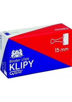 Klipy biurowe Grand 15 mm 12 pudełek x 12 sztuk