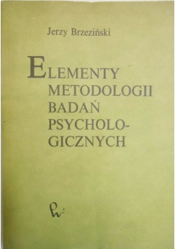 Elementy metodologii badań psychologicznych