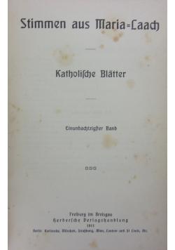 Katolische Blatter, 1911r.