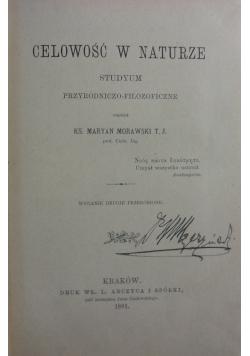 Celowość w naturze, 1891r