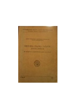 Historia prawa państw antycznych