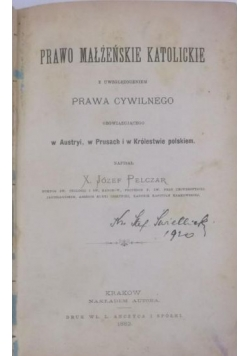 Prawo małżeńskie katolickie, 1882 r.