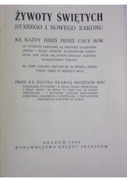 Żywoty Świętych ,1936r.