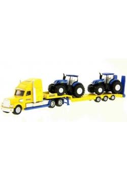 Siku Farmer - Ciężarówka z trakt. NewHolland S1805
