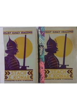 Stach z konar , 2 książki, 1928r