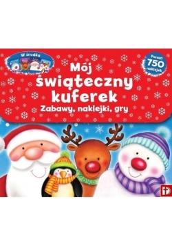 Mój świąteczny kuferek Zabawy, naklejki, gry