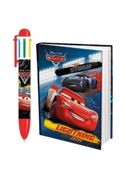 Długopis + notes Auta