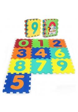Puzzle piankowe 10 elementów Cyfry