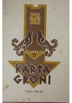 Karta Groni 1987-NR XII