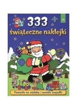 333 świąteczne naklejki niebieskie