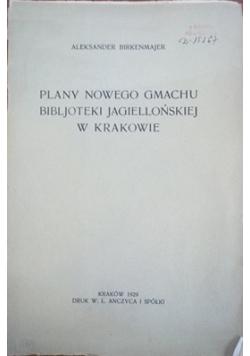 Plany nowego gmachu Bibljoteki Jagiellońskiej w Krakowie, 1929 r.