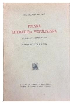 Polska literatura współczesna, 1924 r.